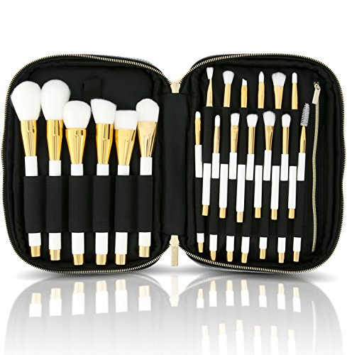 habe Makeup Brush Organizer Bag - Travel Case w/ 20 Stretchy