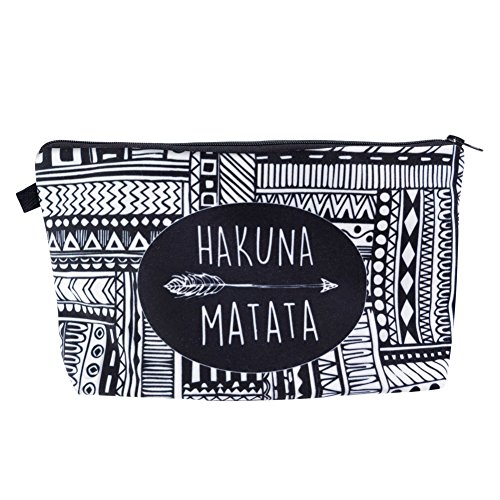 Jom Tokoy Hakuna Matata Makeup Bag Travel Case Cosmetic Bag (HAKUNA MATATA-1) -
