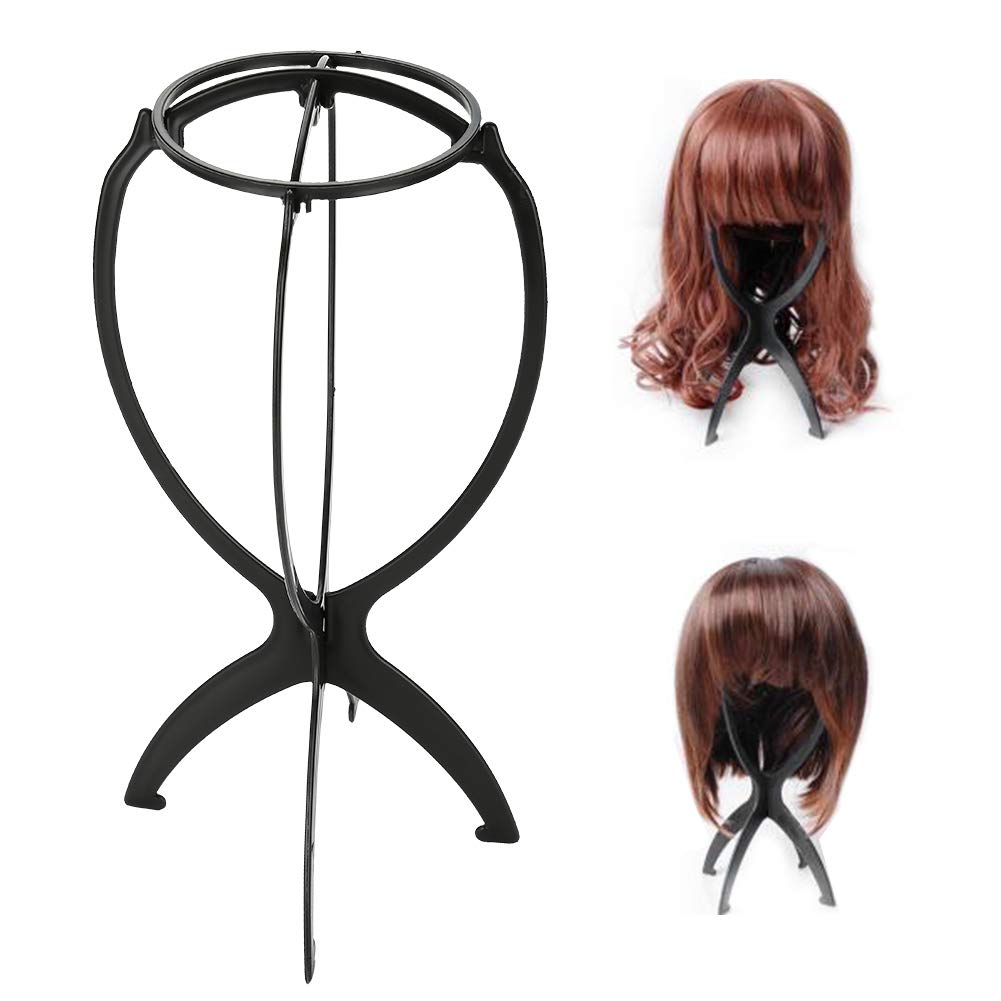 Wig Stand, Asixx 1Pcs Portable Wig Stand ABS Detachable Wig Display Support Stand Professional Holder Folding Wig Air Dry
