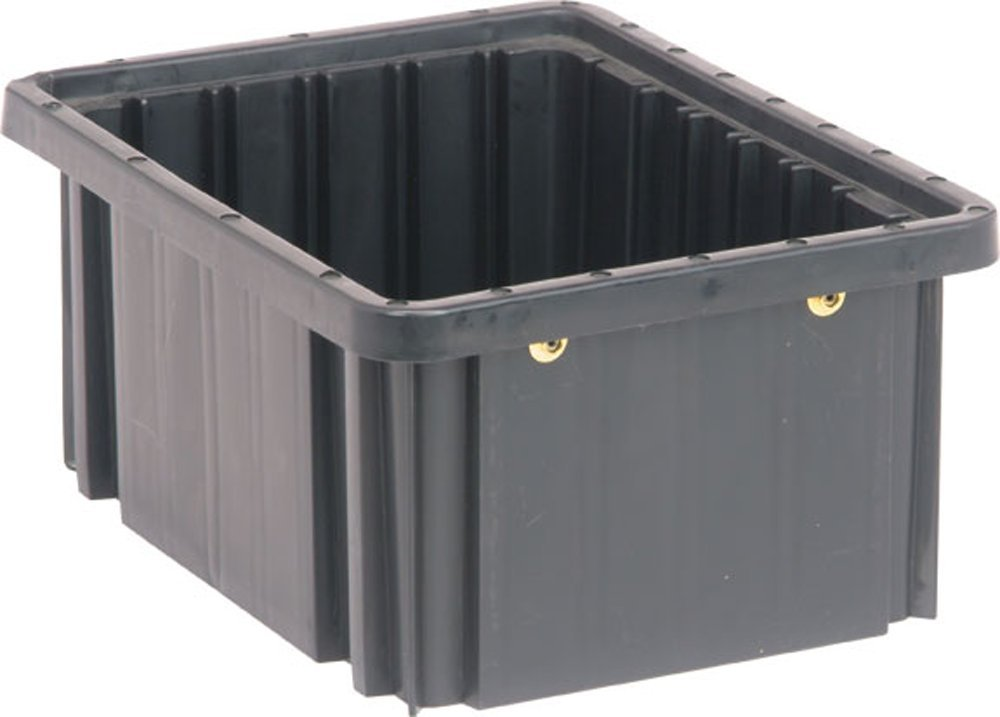 Quantum Storage Systems DG91050CO Dividable Grid Container 10-7/8-Inch Long by 8-1/4-Inch Wide by 5-Inch High, Black Conductive, 20-Pack
