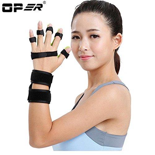 OPER Medical Adjustable Separate Finger Train Device support Orthosis Stroke Cerebral Infarction Hemiplegia Finger Correction (Right, Large)