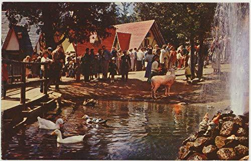 Animals at Santa's Workshop North Pole - Wilmington New York - Vintage Chrome Amusement Park Postcard - #SC2014