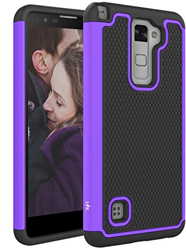 - LG Stylo 2 Case, LK [Shock Absorption] Drop Protection Hybrid Dual Layer Armor Defender Protective Case Cover for LG Stylo 2 (Purple)