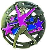 gymnastics gold medal - Gold Gymnastics M3XL Die Cast Medal - 2.75 Inches - Includes Red, White & Blue V-neck Ribbon
