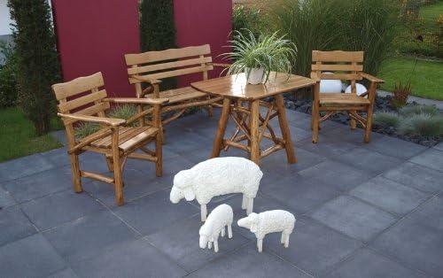 TPFGarden Darwin Bank - Juego de muebles de jardín (madera de nogal): Amazon.es: Jardín