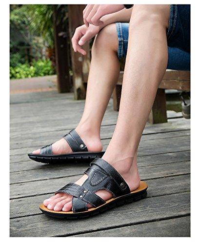 Primavera ed estate Nuovi modelli sandali Scarpe da spiaggia Sutura manuale Scarpe da ginnastica nuovissima Trend Youth, Nero, UK = 9,5, EU = 44
