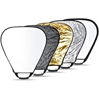 Neewer 5 in 1 Portable Triangle 43Inch/110cm Multi Camera Lighting Reflector/Diffuser Kit with Grip and Carrying Case for Photpgraphy (43 Triangle)
