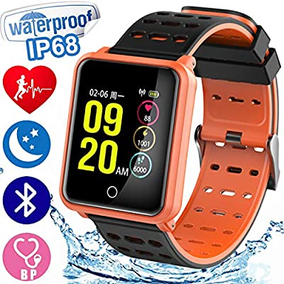"""1.3"""" HD Screen Sport Fitness Tracker with Blood Pressure Heart Rate Monitor IP68 Waterproof Pedometer Smartwatch for Kid Men Women Halloween Wristband Sport Outdoor Travel Activity Tracker iOS Android"""