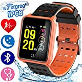 1.3' HD Screen Smart Watch Ip68 Waterproof Fitness Tracker Health Monitor Run Bluetooth Wrist Watch Bracelet Anti-Lost for Ios Android Black Friday Deal Christmas Birthday Gift for Men Woman
