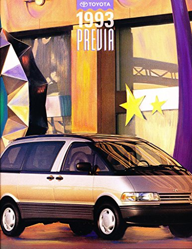 (1993 Toyota Previa Van 18-page Original Car Sales Brochure)