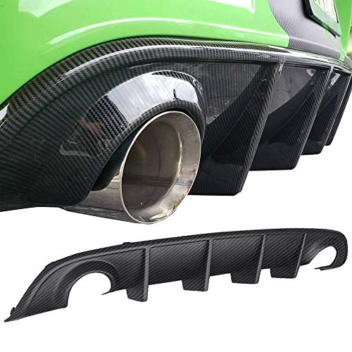 GaofeiLTF Rear Lip Bumper Diffuser Carbon Fiber Style Fits 2015-2019 Dodge Charger SRT Rear Body Splitter Valance PP OE Style