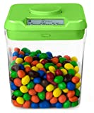 """Kitchen Safe: Time Locking Container (Green Lid + Clear Base) - 5.5"""" Height"""