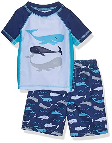 - Freestyle Revolution Toddler Boys' Whale of A Tail Rash Guard Top and Shorts Set, Multi, 3T