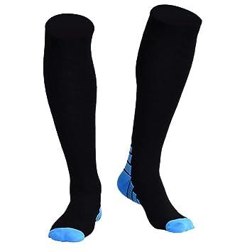 GKKXUE Calcetines de compresión Antideslizantes, Calcetines para Correr, Calcetines (Color : Black Blue