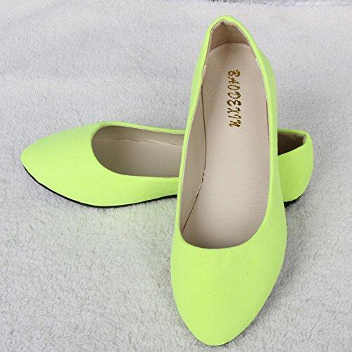 Flats Ballerina Verde Flat On Mocassino Shoes Giallo Estate Walking Missmao Comfort Ladies Slip 74qWYTFwvA