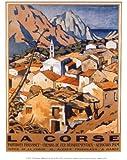 Reproduction d'art 'Corse', de Malcolm A. Strauss, Taille: 24 x 30 cm