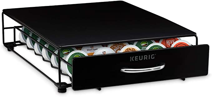 Keurig Under Brewer Drawer Coffee Pod Storage, Holds up to 35 K-Cup, Black