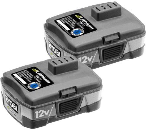 Ryobi CB120L 12-Volt Lithium-Ion Battery Pack (2 Pack) by Ryobi
