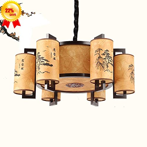 Hlluya Professional Sink Mixer Tap Kitchen Chinese Tea House 6 Sheep Leather Antique Chandeliers Leading 8-Star Hotel is The First Chandelier lamp China Wind, Head Diameter 65 Ching Ho Ming Painting