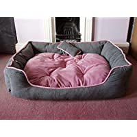 Petitude Reversable Dual Color Ultra Soft Ethenic Designer Velvet Bed for Dog & Cat(Export Quality)-XXL