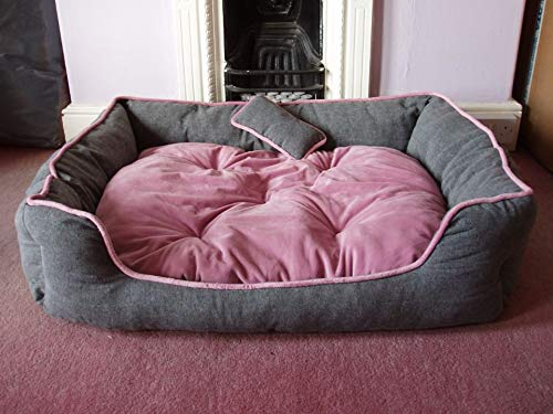 Reversible Dual Colour Ultra Soft Ethnic Velvet Bed for Dog/Cat