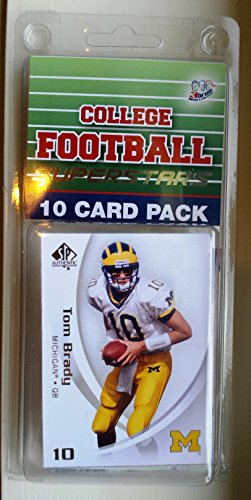 10-card-pack-college-football-michigan-wolverines-different-superstars-starter-kit