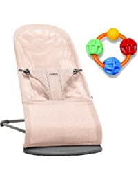 Baby Bjorn Bliss Bouncer - Powder Pink with Click Clack Balls Teether BOBEBE Online Baby Store From New York to Miami and Los Angeles