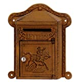 Mail Box Solid Cast Iron Slotted Keyed Pony Express