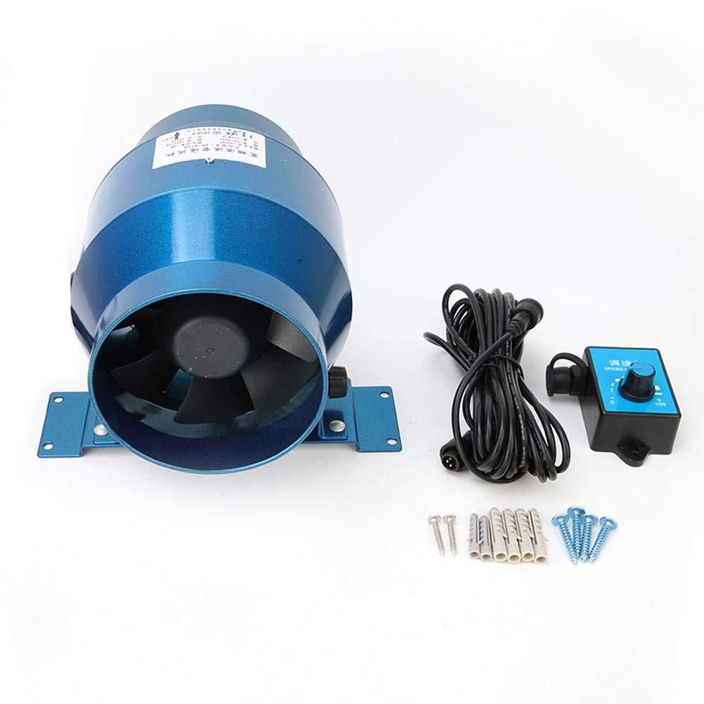 Ventilatore canalizzabile in linea ventilatore da timpano soffiante da 4160CFM 5000 RPM CA 220 V 18 W con regolatore di velocit/à regolabile 0-100/%