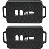 2 Pack Desmond DTB-60 60mm QR Lens Plate w Twin Strap Bosses Arca Swiss Compatible