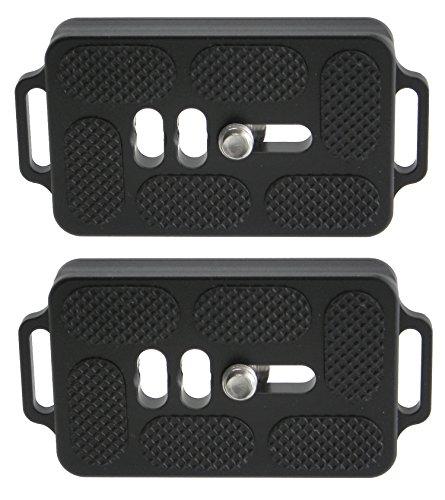 2 Pack Desmond DTB-60 60mm QR Lens Plate w Twin Strap Bosses Arca Swiss Compatible