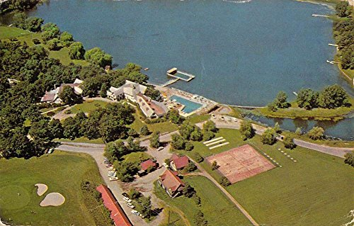 Genoa City Wisconsin Nippersink Manor Birdseye View Vintage Postcard K62169