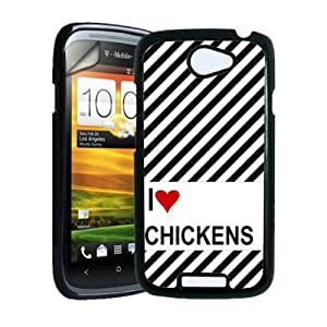 Love Heart Chickens HTC One S Case - Fits HTC One S