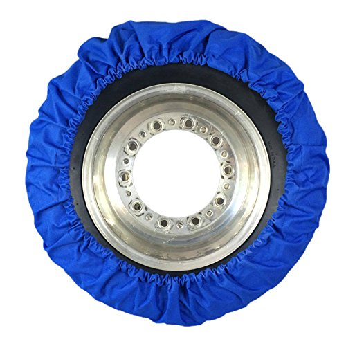 Speedway Motors Real Skin Late Model Tire Cover, 4 Piece, Blue by speedway motors (Image #1)