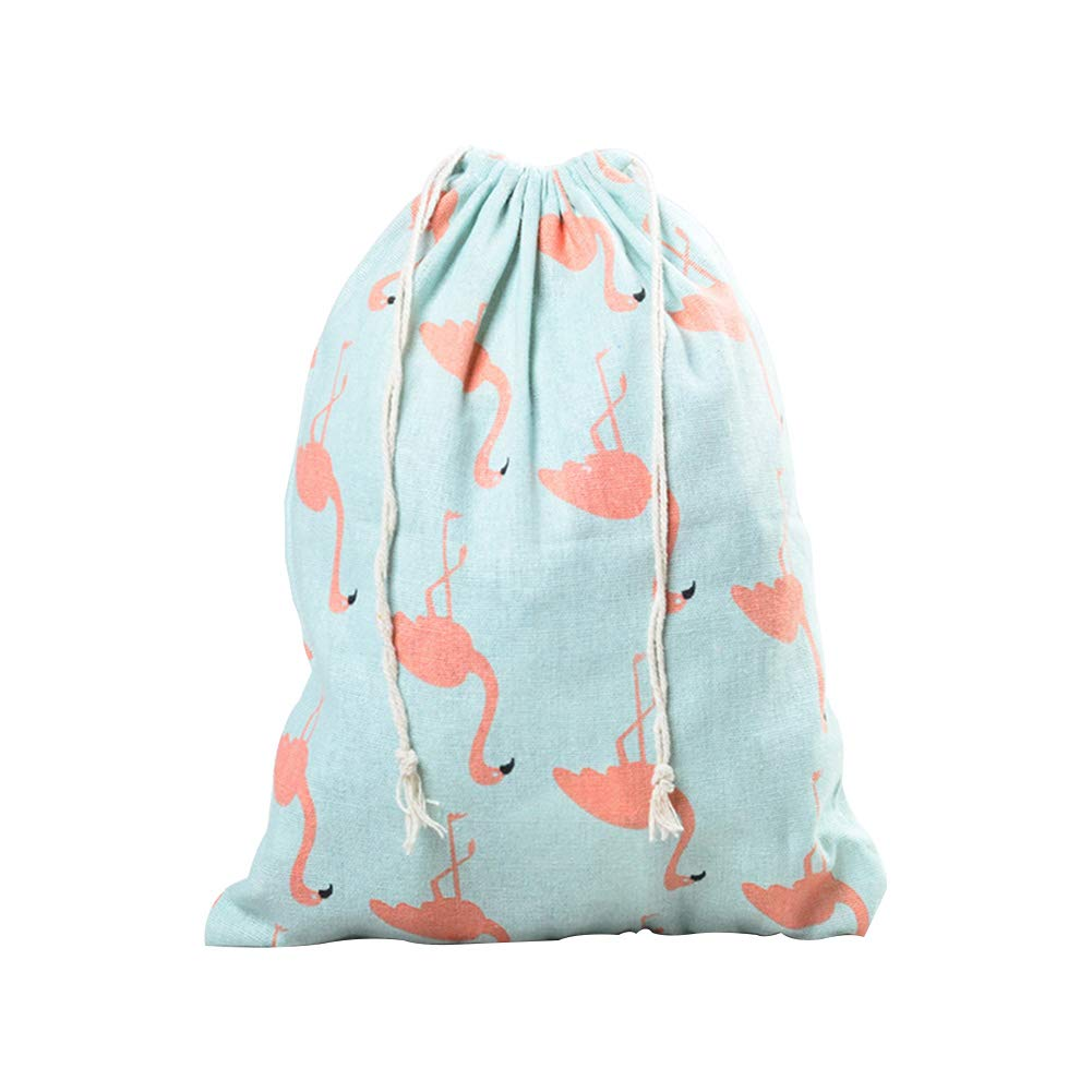 Doitsa 2Pcs Kordelzug Geschirr Tasche Baumwolle Leinen Tasche Schlafsaal Kleinigkeiten Aufbewahrungstasche Schmuck Aufbewahrungstasche Gr/üner Flamingo 16 14CM
