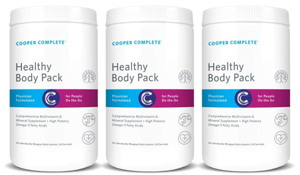 Cooper Complete - Healthy Body Pack - Daily Vitamin Pack with Multivitamin & Omega-3 Fish Oil - 90 Day Supply