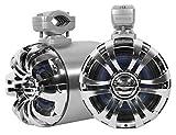Rockville WB65 2 x 6.5' 600w Metal Marine Wakeboar.d Tower Speakers+Swivel Brackets, 2 Pack