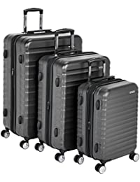 AmazonBasics, Maleta rígida Spinner, 51 cm, Carry-on, Gris