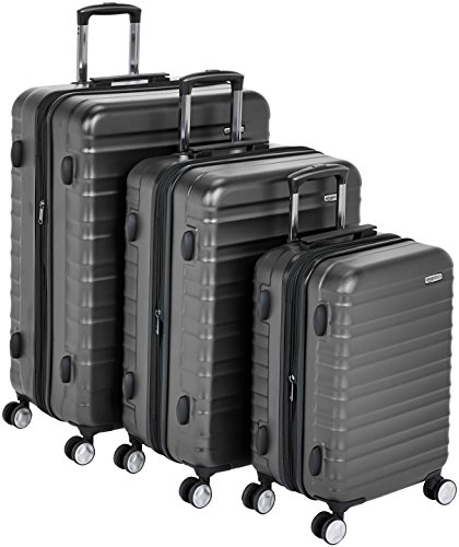 AmazonBasics Premium Hardside Spinner Luggage with Built-In TSA Lock - 3-Piece Set (20