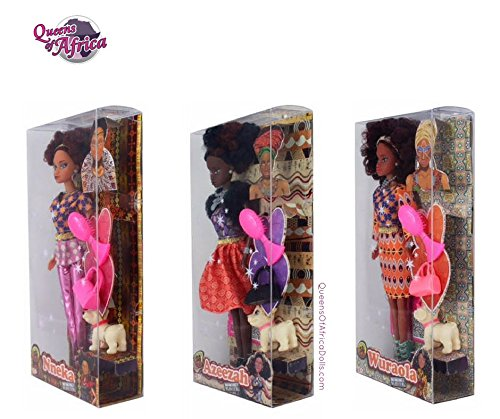 Review Queens of Africa Black Dolls BUNDLE – AZEEZAH, NNEKA & WURAOLA (Curly/Natural Hair)
