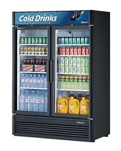 Panels Door Refrigerator Cf (46.2cf 2 Door Glass Merchandiser Cooler with 8 Shelves)