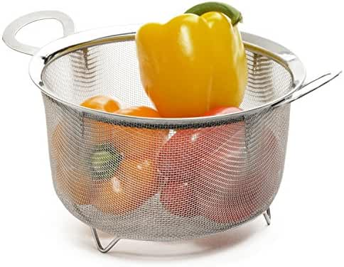 RSVP Endurance Stainless Steel 3 Quart Wide Rim Mesh Basket