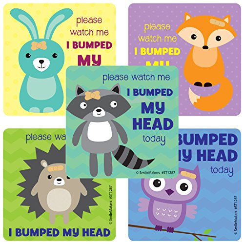 Please watch me I bumped my Head Stickers - Prizes and Giveaways - 100 per Pack