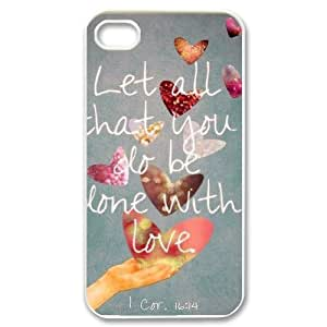 Bible Quotes & Inspirations Case For iPhone 4/4s White Nuktoe560847