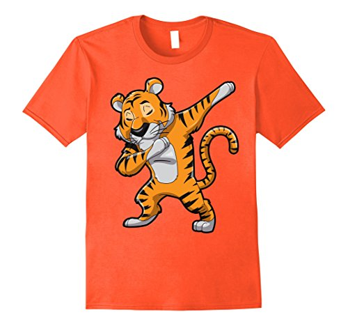 Mens Dabbing Tiger T Shirt Meme Football Team Mascot Dab Cat Tees Large - Print Tiger Cat