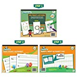 Channie's Beginner's Alphabet & Handwriting workbooks, 3 workbooks, lots practices with visual format. Easier way to learn Alphabet