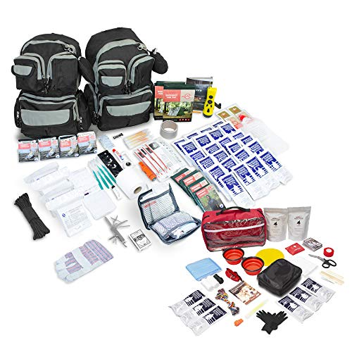 Emergency Zone Urban Survival 72-Hour Bug Out Go Bag Survival Kit Discrete and Non-Tactical Prepare for Hurricanes, Earthquakes, Wildfire, Floods, Tornadoes Now Includes BONUS Water Filter Straw