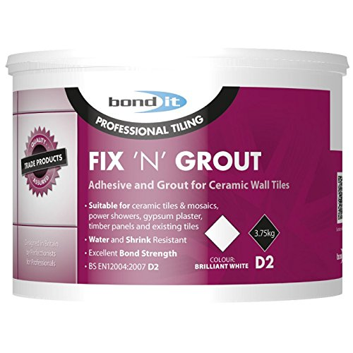 2 x BOND IT 3.75kg FIX N Grout Tile Adhesive Internal use Ideal for Showers and Wet Rooms D2