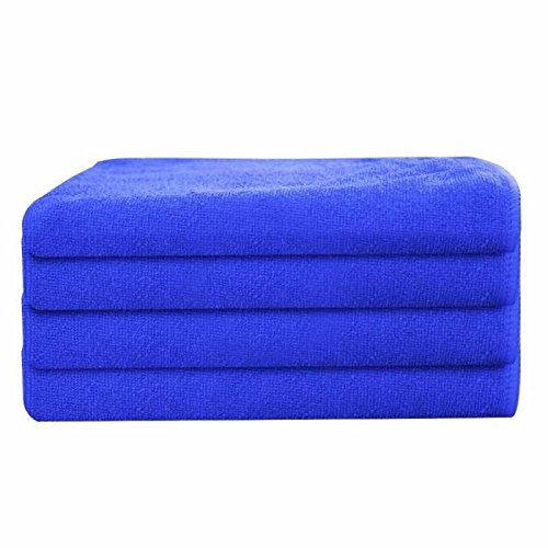 GHP 120-Pcs Royal Blue 16''x16'' Professional Grade Microfiber Cloth Cleaning Towels by Globe House Products