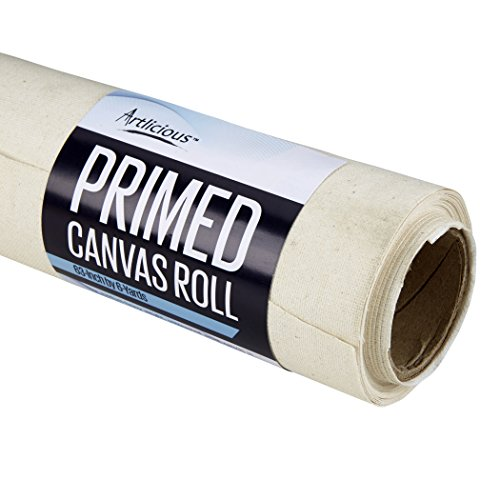 Artlicious - 63-Inch by 6-Yards Canvas Roll - Triple-Primed 100% Cotton Duck Canvas by Artlicious